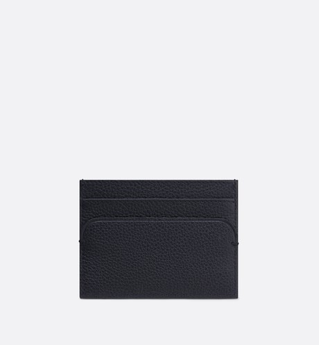 Navy Blue Calfskin Card Holder aria_backView