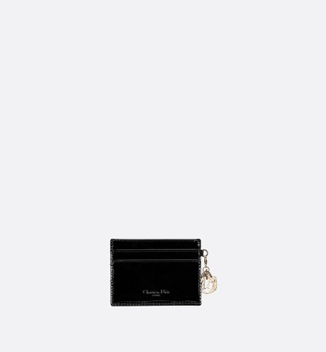 Lady Dior calfskin card holder aria_backView