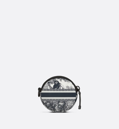 Detachable DiorTravel Round Coin Purse Back view Open gallery