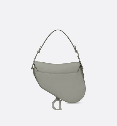 Gray Stone Saddle Matte Calfskin Bag aria_backView