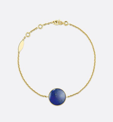 Rose des vents bracelet, 18k yellow gold, diamond and lapis lazuli aria_detailedView