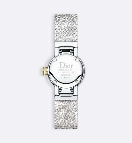 La D de Dior Mini Satine Ø 19mm, quartz movement detailed view