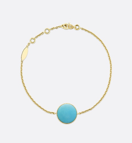 Rose des vents bracelet, 18k yellow gold, diamond and turquoise aria_detailedView