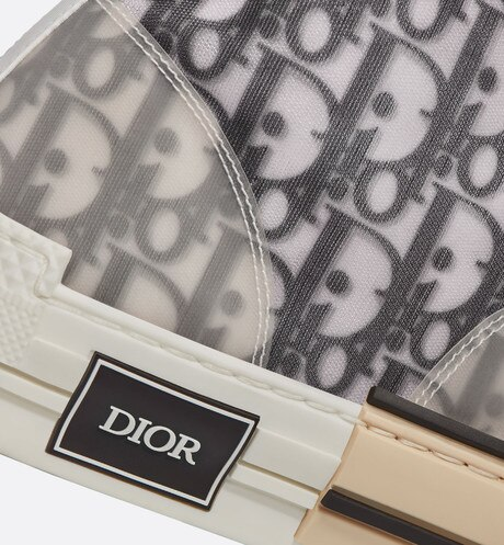 B23 High-Top Sneakers in Dior Oblique detailed view
