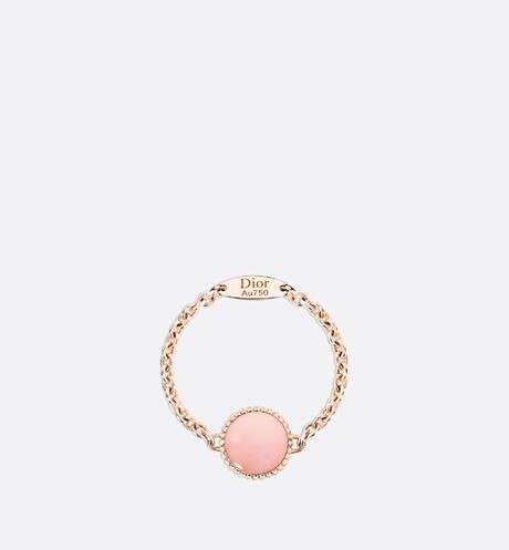 Rose des vents XS ring, 18K pink gold, diamond and pink opal aria_detailedView