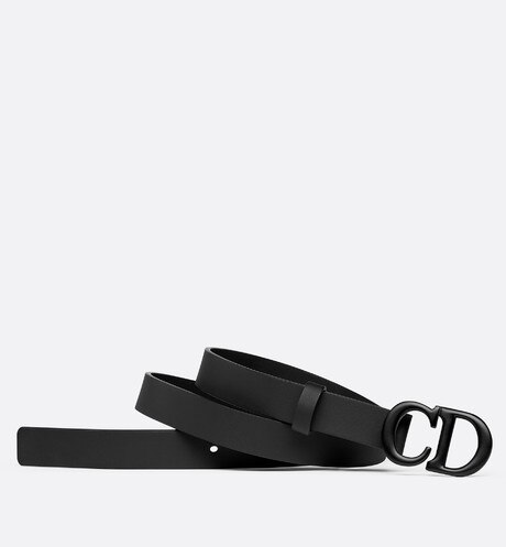 Black Saddle Matte Calfskin Belt aria_detailedView