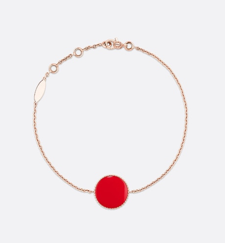 Rose des vents bracelet, 18k pink gold, diamond and red lacquered ceramic aria_detailedView