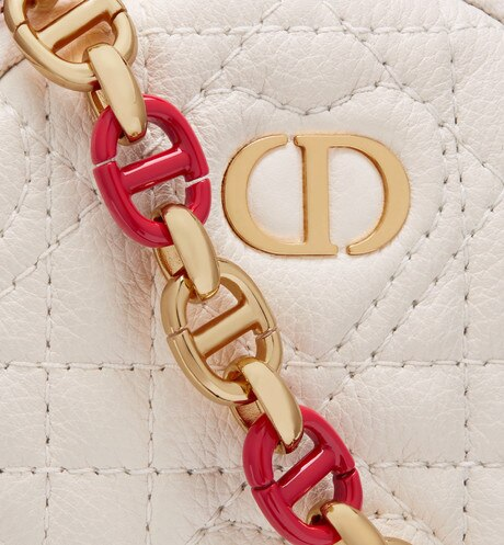 Mini Dioramour Dior Caro Round Pouch Detailed view Open gallery