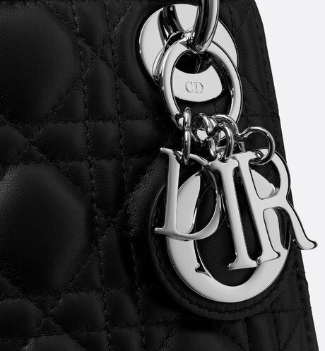 Mini Lady Dior lambskin bag aria_detailedView