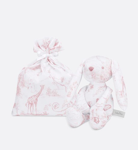 Cotton satin 'Toile de Jouy' print rabbit aria_detailedView