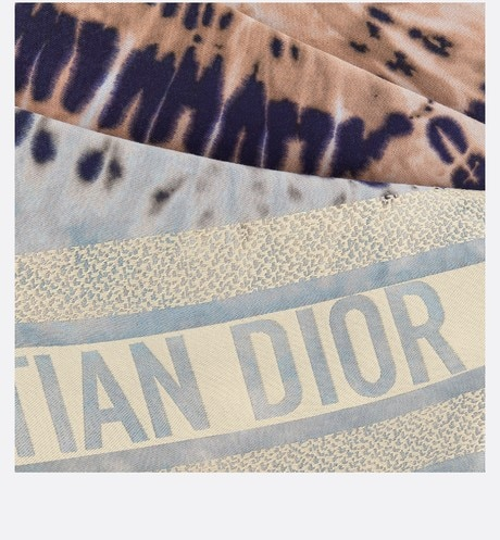 Tie & Dior Square Scarf Detailed view Open gallery