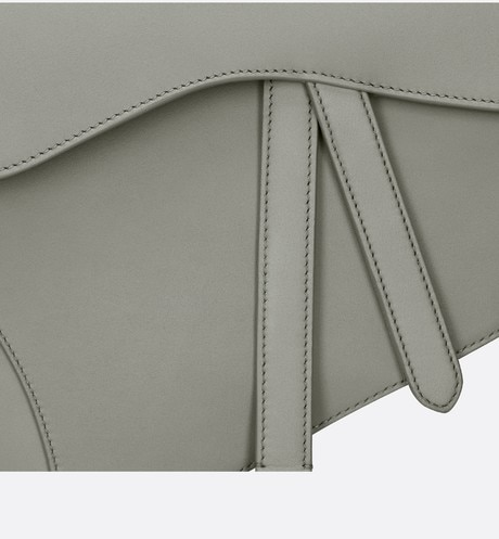 Gray Stone Saddle Matte Calfskin Bag aria_detailedView