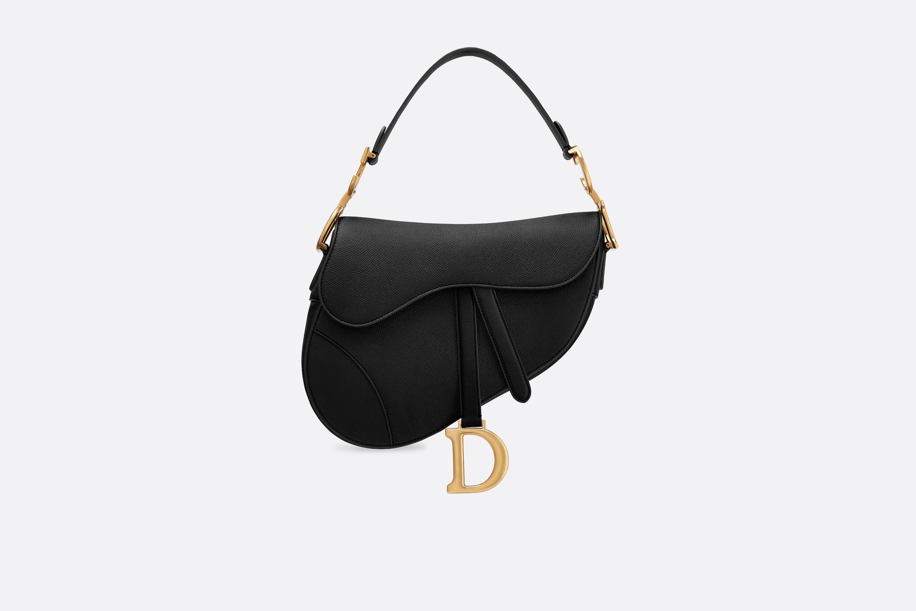 Saddle Bag Black Grained Calfskin - Bags - Women's Fashion | DIOR